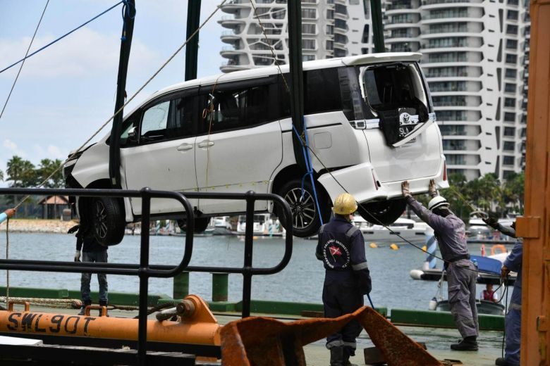 Drug user who drove into sea off Sentosa